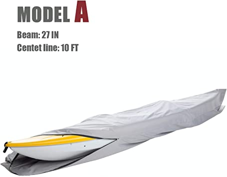 New 300D Polyester Grey Waterproof  Canoe Kayak Boat Cover Fits to 16ft Canoes