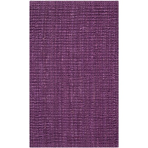 "Safavieh Natural Fiber Collection NF447B Hand Woven Purple Jute Area Rug (2'6"" x 4')"