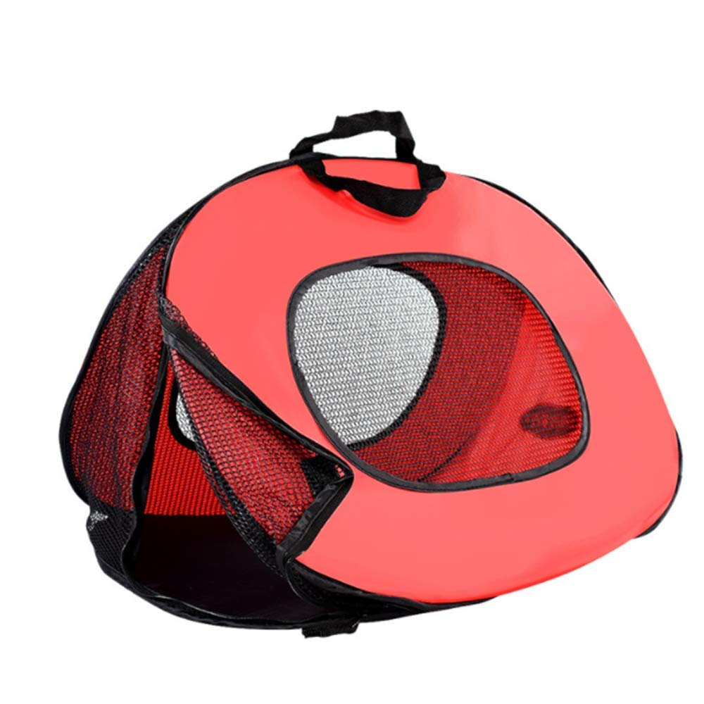 A Pet Backpack Airline Approved Pet Carriers, Breathable Portable Collapsible Pet Travel Carrier for Medium Puppy and Cats