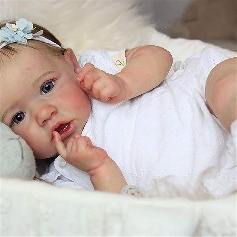 Reborn Baby Doll 20 Pulgada 50.8 cm 1.3 kg Silicone Vinyl Softbody Life Reborn Babies Mantener fácilmente Juguetes de escolta para niños y Personas Mayores