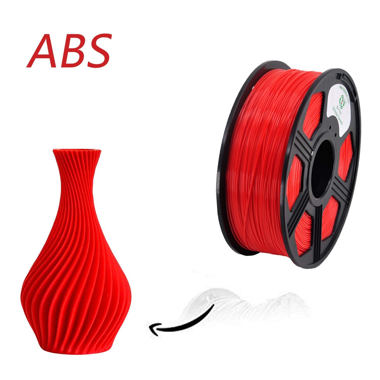 100/% Virgin Raw Material Dimensional Accuracy +//- 0.03 mm Silver 2.2lbs YOYI ABS 3D Printer Filament 1.75mm 1kg Spool