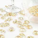Deko-Diamanten 12 mm Gold/Apricot 100 Stück - Streudeko Deko Steine Kristalle Diamanten