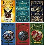 J.K. Rowling Collection 6 Books Set (Harry Potter and the Cursed Child Parts One and Two, Fantastic Beasts The Crimes of Grindelwald,The Original Screenplay,Quidditch Through the Ages and more)