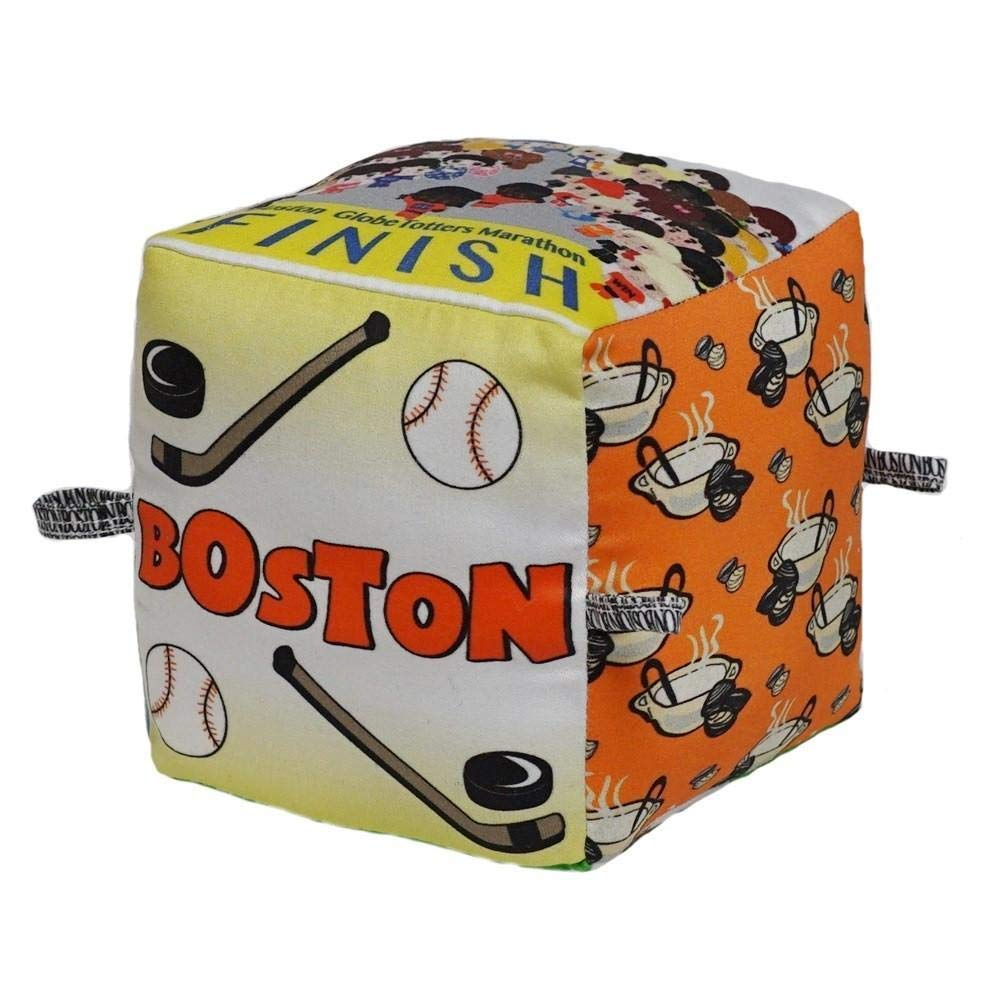 Limited Edition Boston City Block | Organic Toy | Eco Soft Cotton | Best Toy of the Year | Handmade in Brooklyn | Jingle Column | Rattle | Baby Blocks