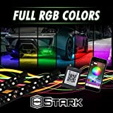 Stark Million Color LED 4Pcs Strip Underglow Underbody Neon Lights Kit App Phone Bluetooth - Large for Truck SUV