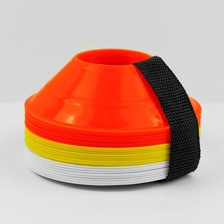 NEW Cones Marker Discs Soccer Football Training Sports Entertainment 20cm 1-20PC