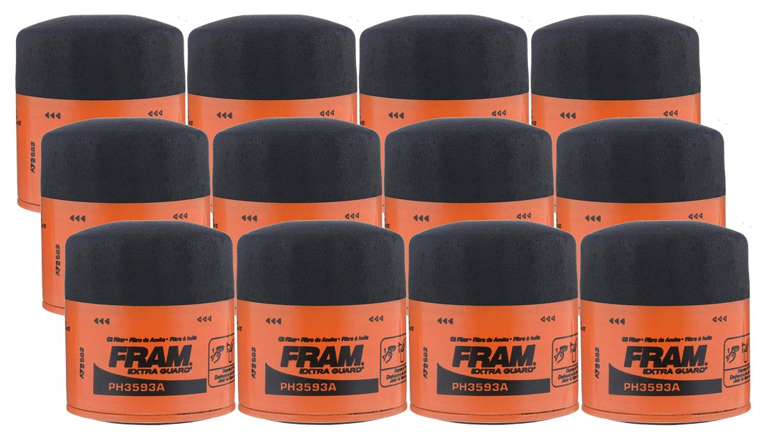Fram PH3593A Extra Guard Spin-On Oil Filter - (Pack of 12)