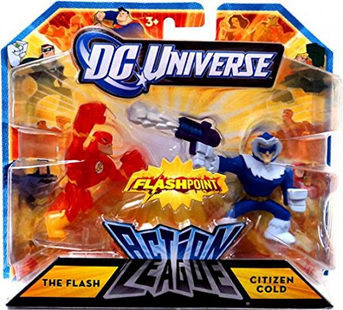 Universe Mini Figures - DC Universe Action League FLASHPOINT Mini Figure 2Pack The Flash Citizen Cold