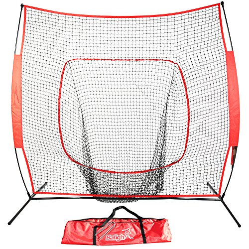 Balight Baseball and Softball Practice Net Hitting, Pitching, Batting and Catching 7 x 7 with bow by Balight