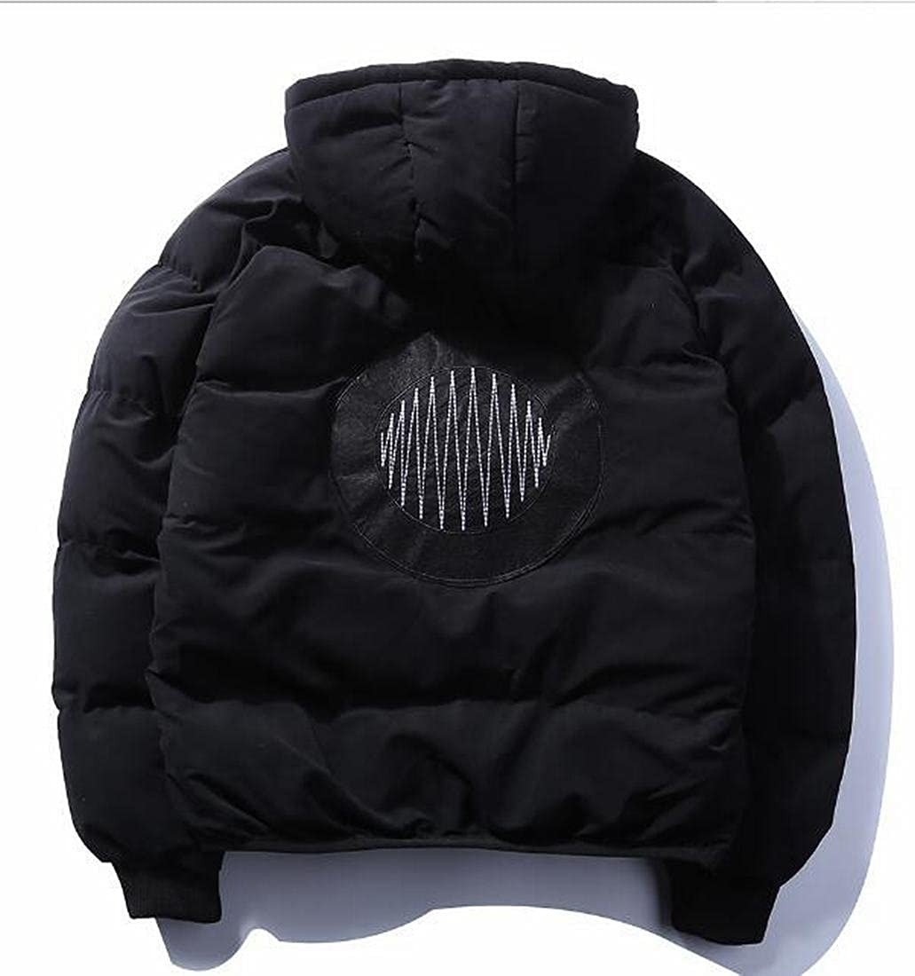 WANSHIYISHE-Men Comfy Thicken Removable Hoodie Quilted Cotton Jacket