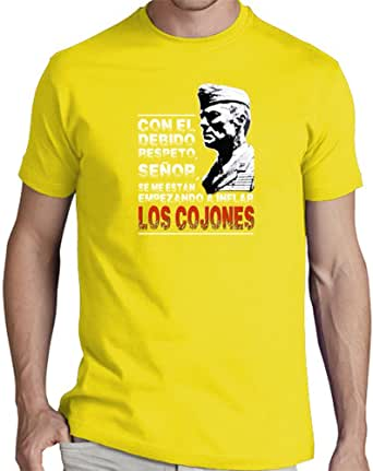 latostadora Camiseta Sargento de Hierro Revisited - Camiseta Hombre clásica, Amarillo limón Talla S: xavierpinyes: Amazon.es: Ropa y accesorios