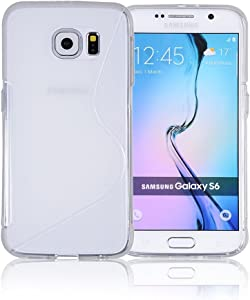 Galaxy S6 Case, Galaxy s6 Cases | Compatible with Samsung Galaxy s6 SIV S IV i9600 - Custom Pretty Wallet Thin Soft Gel Shell Cover Skin Phone Case by Cable and Case | Not Edge Compatible - Clear