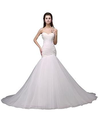 f1c0eb82462 DJ New Winter Korean Bride Train Wedding Dress DJ004 at Amazon ...