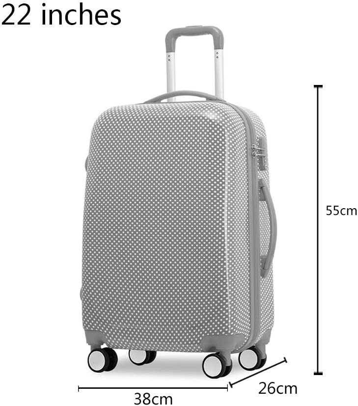 Cute Spotted Luggage Universal Wheel Suitcase LEYOUDIAN Laganxiang Trolley case Color : Blue, Size : 38cm26cm55cm Boarding case