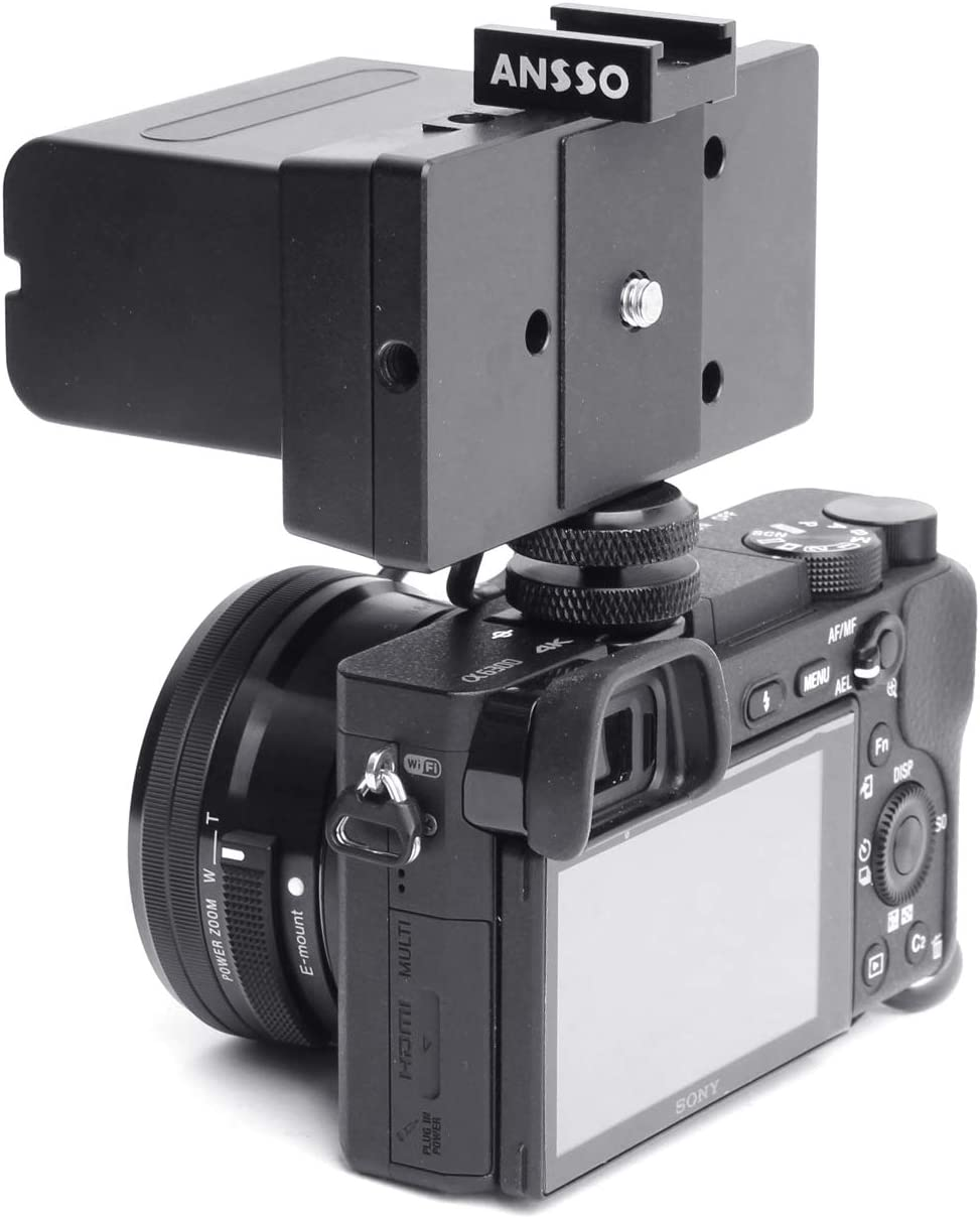 Ansso NP-F970 F970 to BLF19 Full Decoded DC Coupler Power Adapter Battery Mount Plate with 1//4 and Shoe Mount for Panasonic DMC GH3 GH4 GH5 G9 DMW-DCC12 GH345-F970/_1//4 /& Shoe Mount