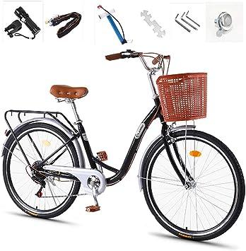 GHH Bicicleta Womens 7 Velocidad, City Bicicleta de Paseo 26 ...