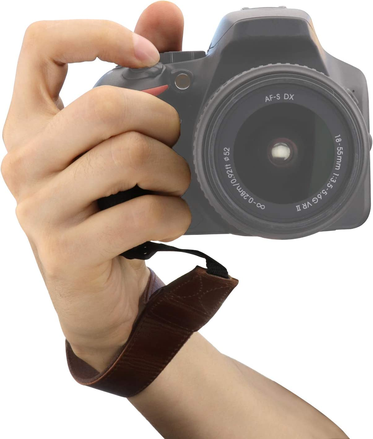 DSLR Leather Wrist Strap Dark Brown MegaGear MG1411 SLR