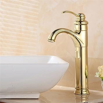 Amazoncom FHLYCF Basin Faucet European Style Retro Copper Bath - Gold plated bathroom faucets