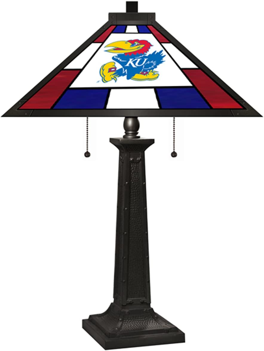 Imperial Officially Licensed NCAA Furniture: Tiffany Style Stained Glass Desk Lamp