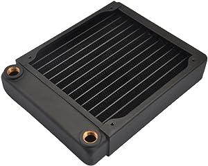 XSPC EX140 Radiator, 140mm x 1, Single Fan, Black