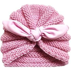 Mitlfuny Sombreros de bebé Unisex Invierno Caliente Giro Hilo Indio Gorro  de Punto Elastico Color Sólido 1b9200aa3f7