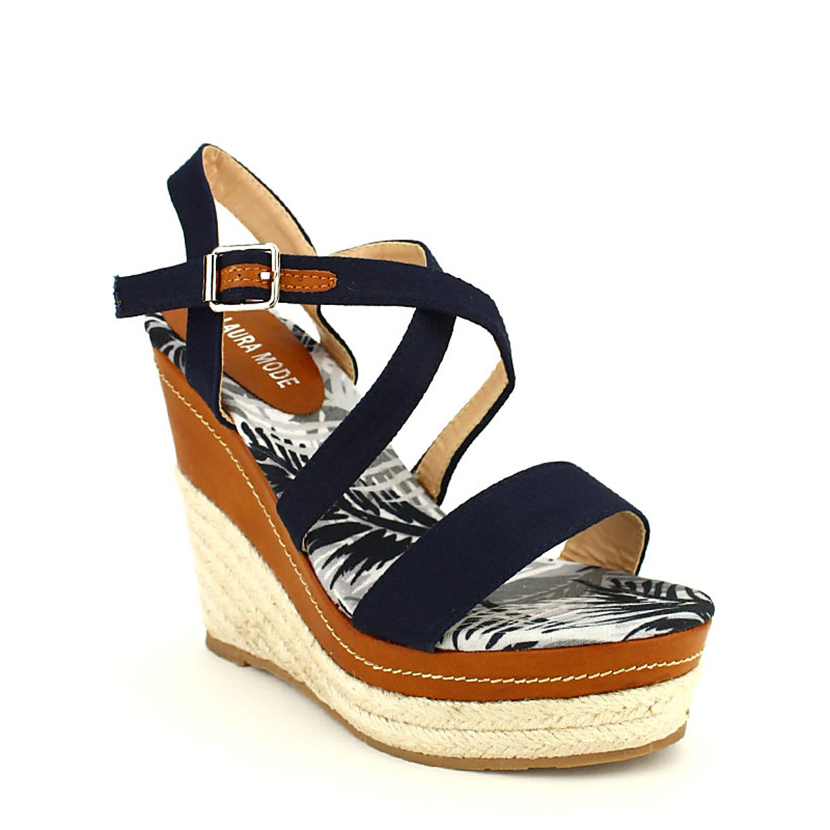 8ad8a5070aa2c0 Compensée Bleue HAWAÏ Mode Chaussures Femme Compensée Bleue HAWAÏ Mode Chaussures  Femme Taille 38 Chaussures Cendriyon Espadrilles