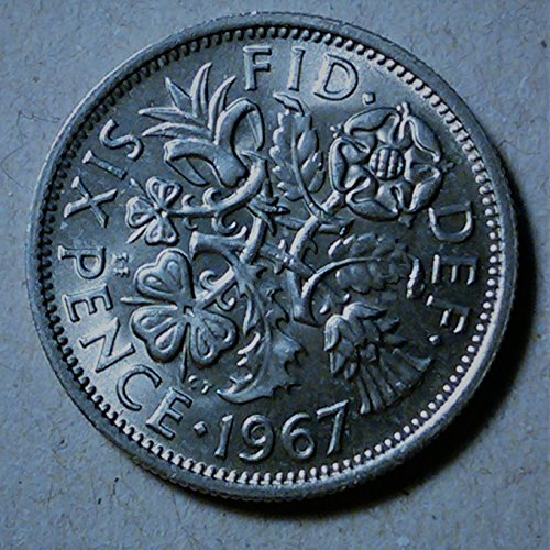 1967 Collectible six pence / Uncirculated sixpence 6p for collectors