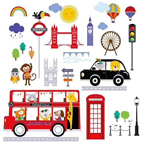 Bus to London Baby/Nursery Wall Sticker Decals for Boys and - Creek Center Cherry