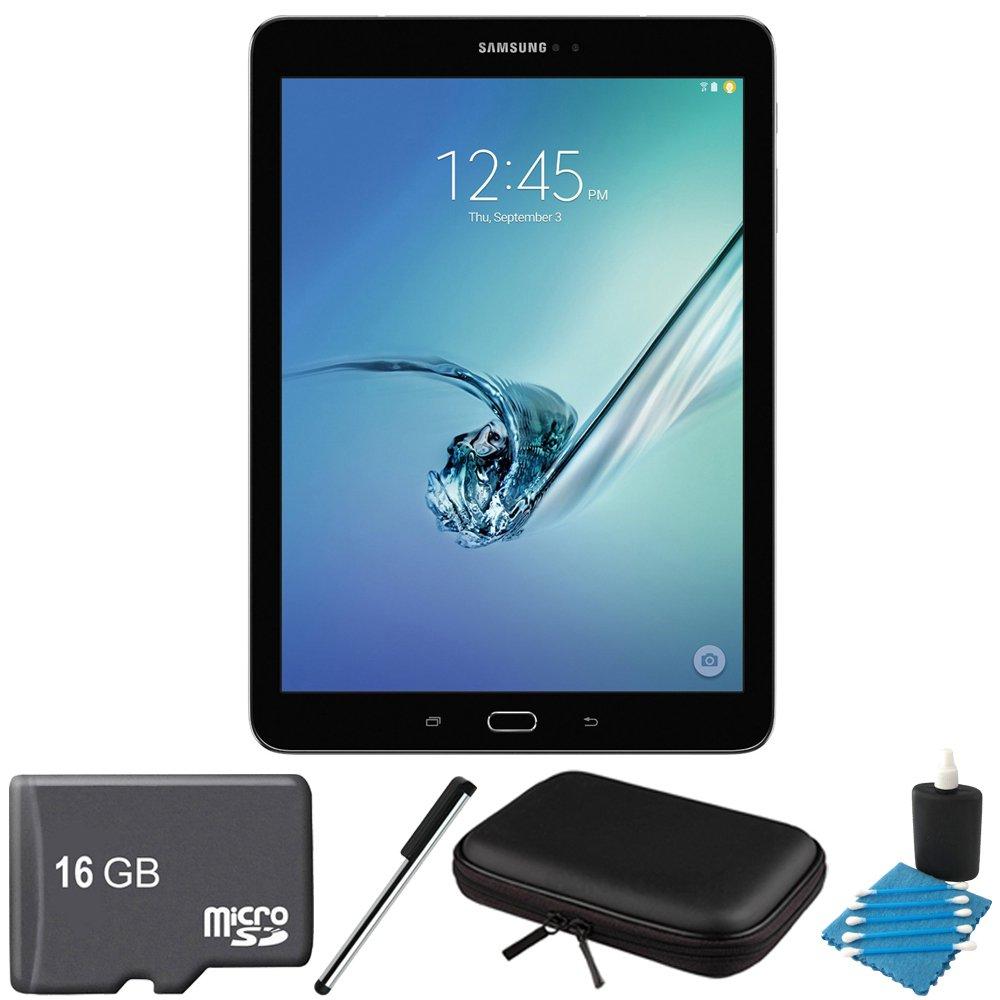 Samsung Galaxy Tab S2 9.7-inch Wi-Fi Tablet (Black/32GB) SM-T810NZKEXAR 16GB MicroSD Card Bundle includes Galaxy Tab S2, 16GB MicroSD Card, Stylus Stylus Pen, Protective Tablet Sleeve by Samsung