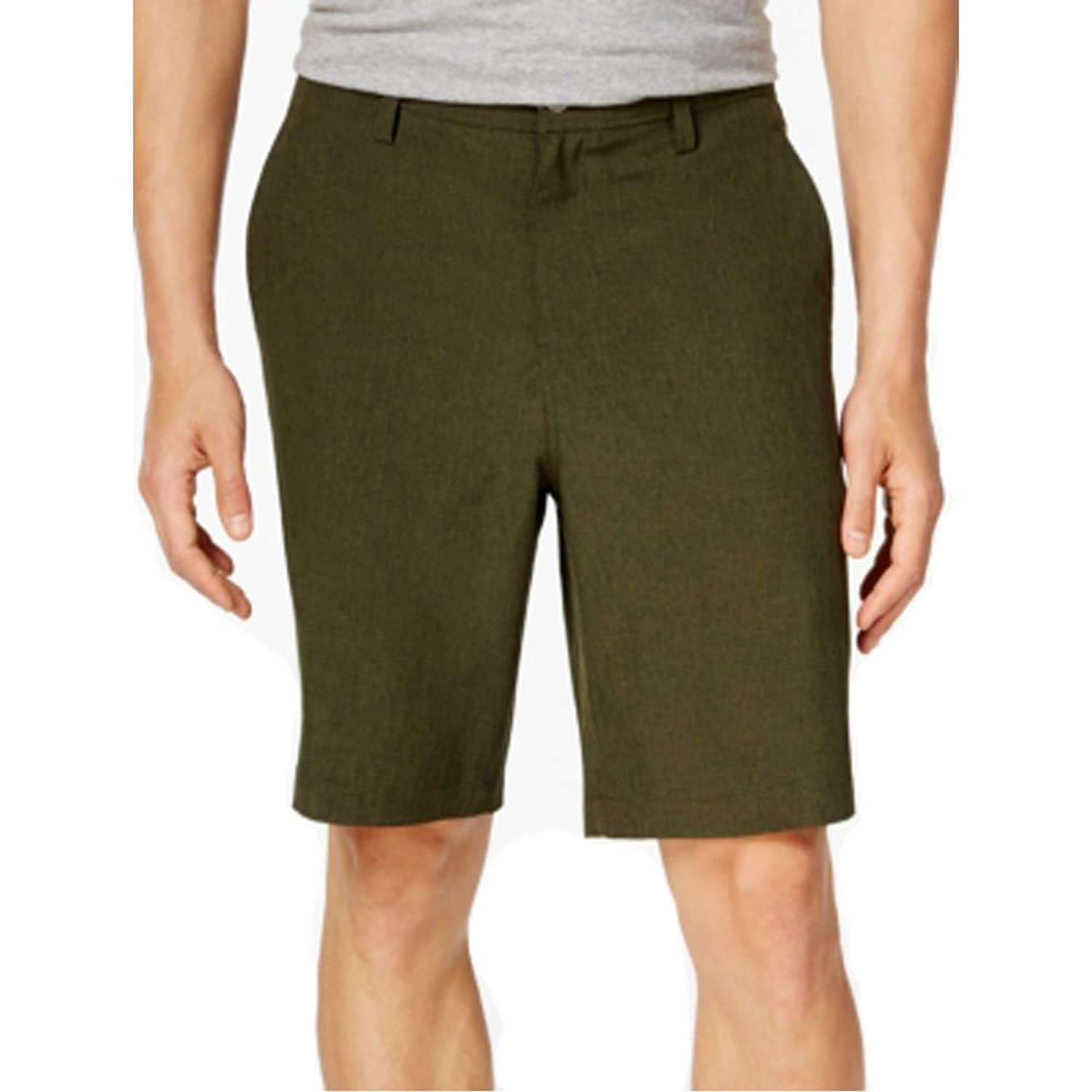 32 Degrees Mens Flat-front Shorts Moss
