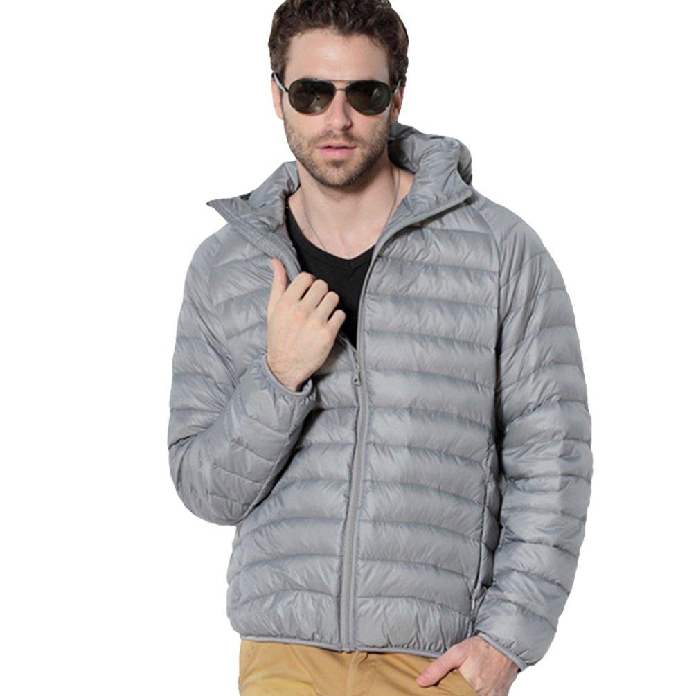 Jitong Leggero Uomo Invernali Manica Lunga Giubbotto Giacche Piumino con Cappuccio Cappotto Caldo Hoodies