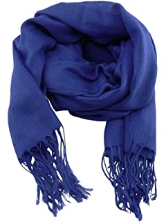 Accessoire Top Tendance Écharpe Chèche Pashmina Homme Bleu Roi Couleur Unie  Très Doux 198cm x 90cm 6735492a9ce