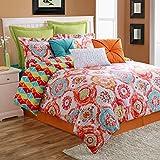Fiesta 4 Piece Ava Comforter Set Bed Skirt & 2 Pillow Sham, Full
