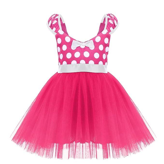 Amazon.com: Disfraz de Minnie de lunares para niñas pequeñas ...