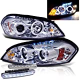 2009 CHEVY IMPALA PROJECTOR DUAL HALO HEADLIGHTS NEW + 8 LED FOG BUMPER LAMPS