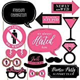 Divorce Party - Photo Booth Props Kit - 20 Count