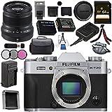 Fujifilm X-T20 Mirrorless Digital Camera (Silver) 16542359 XF 50mm f/2 R WR Lens (Black) 16536611 Bundle