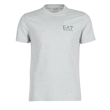 b4bc0f27fe62 Emporio Armani Mens EA7 Mens Train core ID Crew Neck T-Shirt in Light Grey  - L  Emporio Armani EA7  Amazon.co.uk  Clothing
