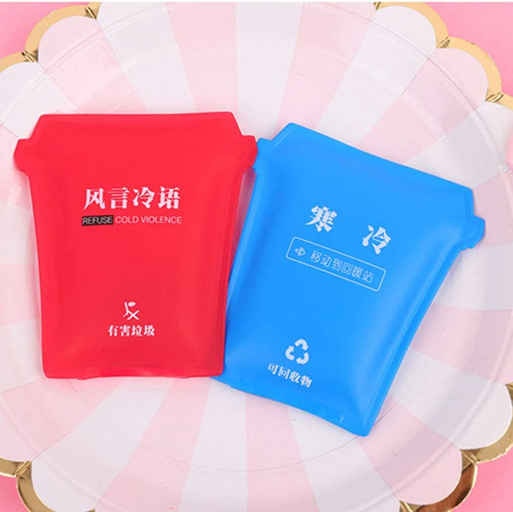 Kegiit Mini Reusable Gel Hand Warmer Cute Funny Printed Heating Pack for Winter Portable