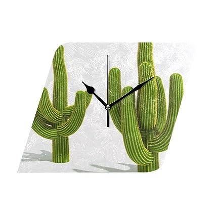 HangWang - Reloj de Pared con diseño de Amapola Sobre el Sol, silencioso, no