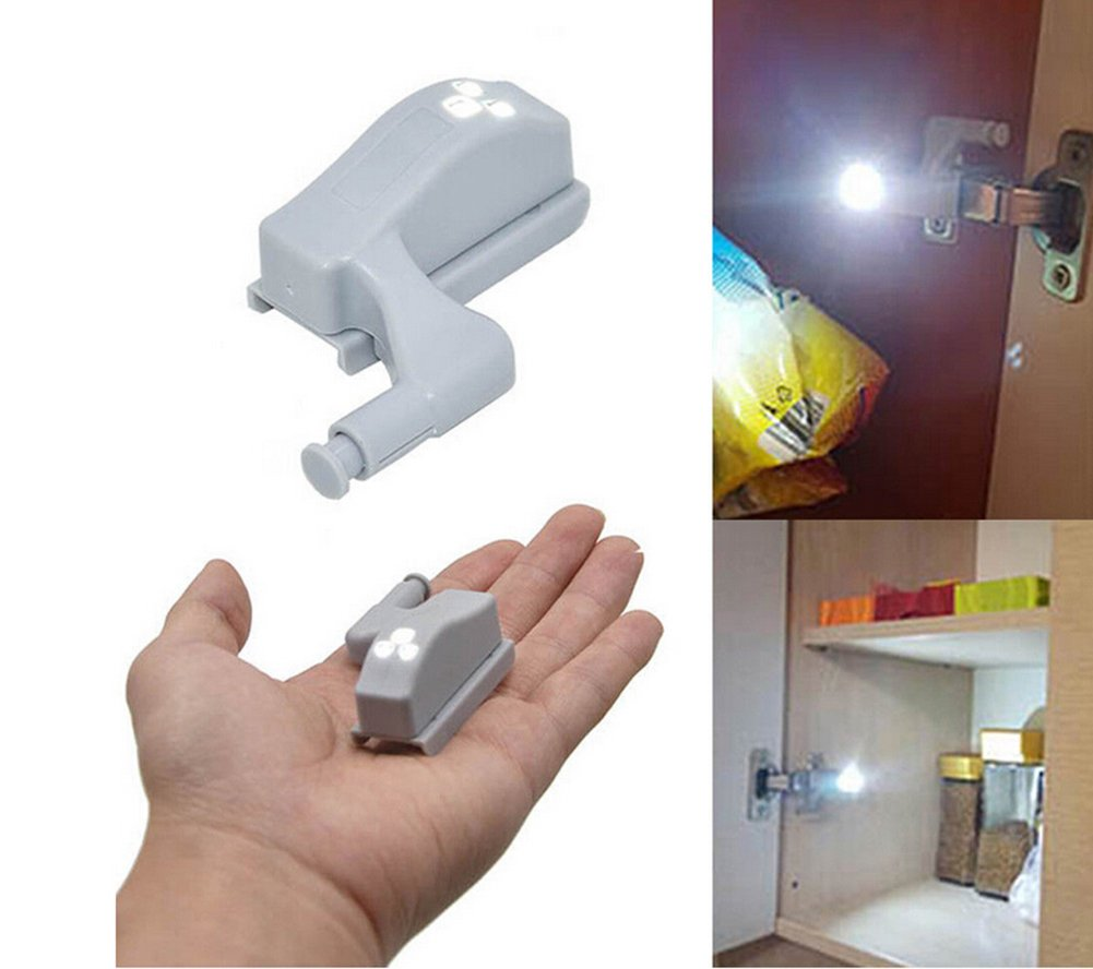 10パックキャビネットヒンジLEDセンサーライトforワードローブ食器棚ホームキッチンクローゼット ホワイト B078H7X619  クールホワイト