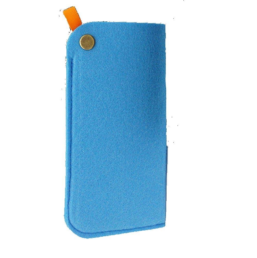 YUNQI Original Design Portable Soft Felt Slip In Pouch Case for Sunglasses or Reading Glasses Grey