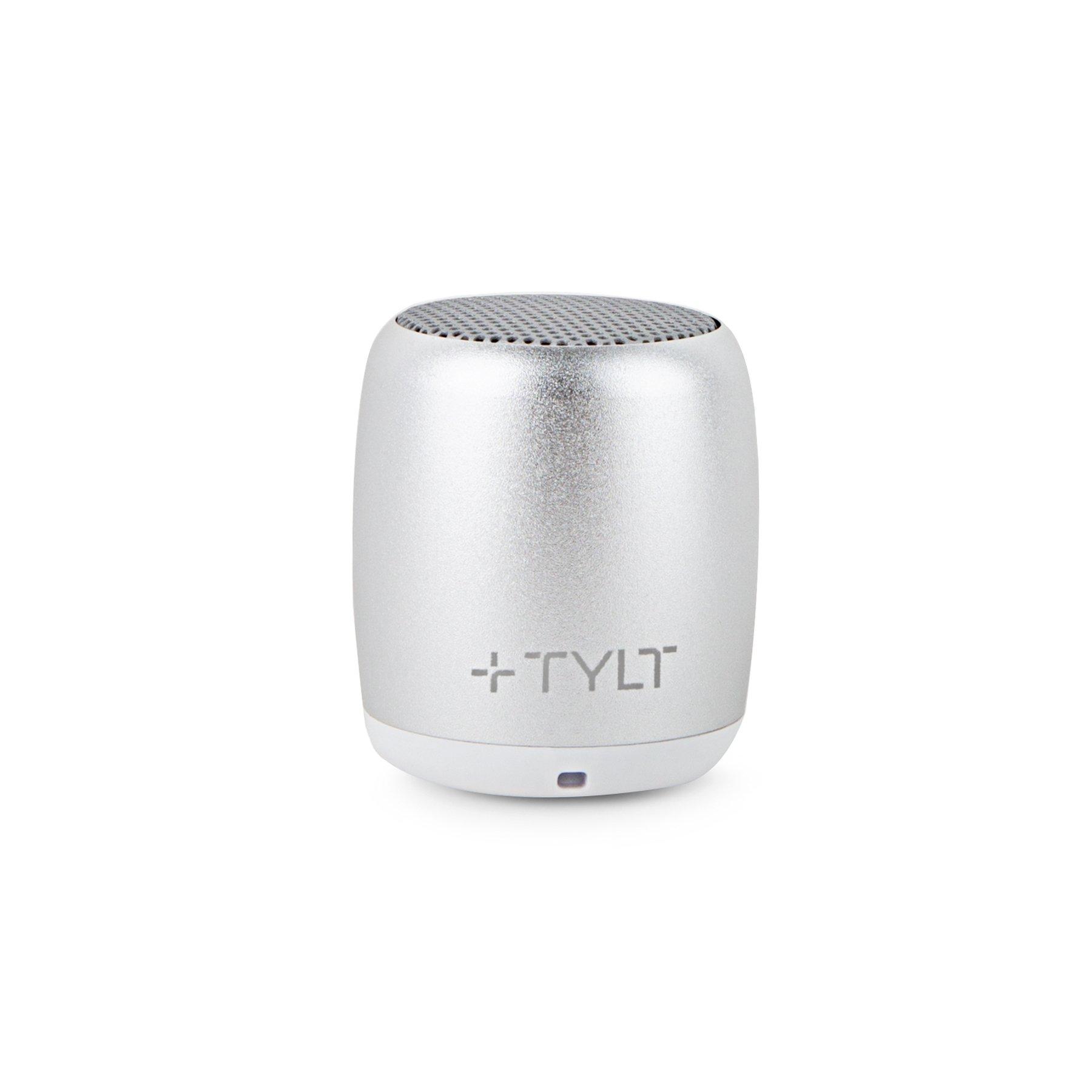 TYLT Mini Boom Bluetooth Speaker (Silver) 3W Output on...