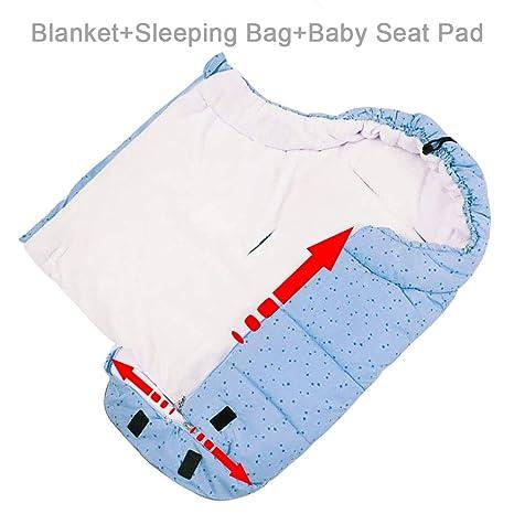 Fulllove Baby Fußsack Für Kinderwagen Winter Buggy Sportwagen Mit Anti Rutschschutz Winterfußsack Autositz Schlafsack Blau Baby