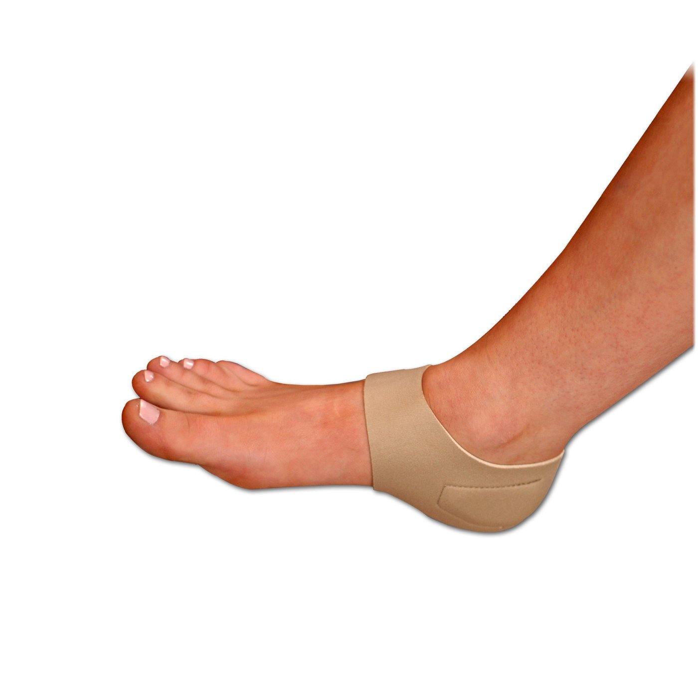 Heel Hugger and Stabilizer with Cooling Gel and Compression Therapy relief for Heel Pain, Foot Pain, Heel Spurs, Plantar Fasciitis, Nude, Patented by Brownmed