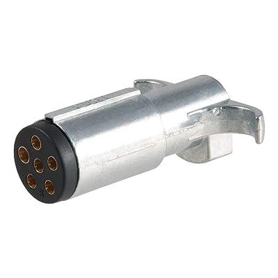 CURT 58080 Trailer-Side 6-Way Round Trailer Wiring Harness Plug, 6-Pin Trailer Wiring: Automotive