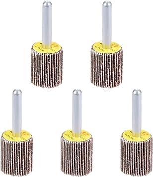 uxcell 30mm Cone Shape Abrasive Flap Wheel 1//8-Inch Shank for Deburring Sanding Polishing 80 Grits 5 Pcs