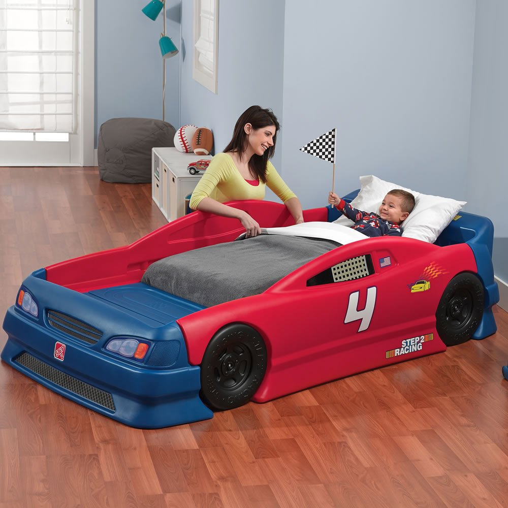 amazoncom step2 stock car convertible bed toys games