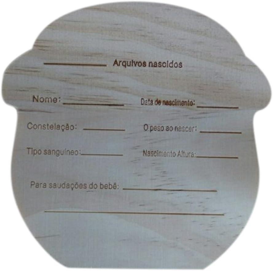 Caja de Tesoro de Madera Pintada de alta Calidad para Almacenamiento de Dientes de los Ni/ños Morran Caja De Almacenamiento Dientes para Ni/ños
