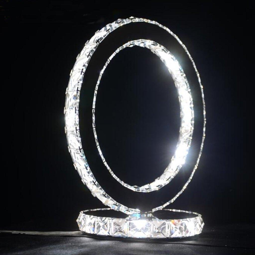 Briskaari Store- Modern Crystal Lamp Lighting Bedroom Bedside Lamp Luxury Crystal Table Lamp (Size : S)